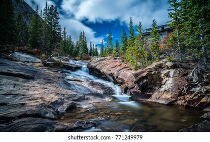 Royalty high quality stock image of trees and mountain, river. Beautiful lanscape