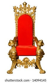 Royalty's Throne. Ornate. On White