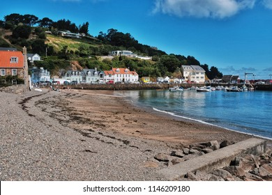 Rozel Bay, a small  village on Jersey,  is a traditional fishing harbour rather than a pleasure beach despite this it is a very pleasant place to spend time.