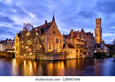 Rozenhoedkaai is in Brugge the most visited and photographed place. The channel is wider here and offers a large view for tourists.