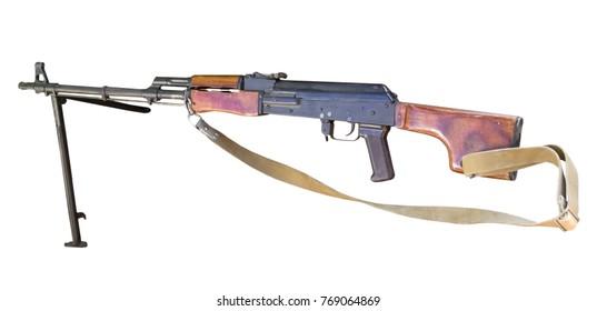RPK Machine gun Kalashnikov on white background