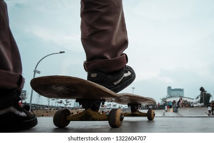 RPTRA Kali Jodo, Jakarta - Indonesia. 27 March 2017. Skate Park Kali Jodo is a new place for skater in Jakarta, This park was Build for public space and youth to gather in a free time.