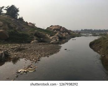 Rriver side in Jharkhand. Named subarna rekha river