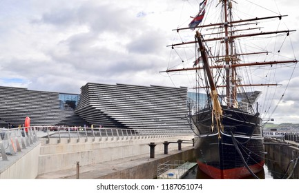 RRS Discovery, tourist attraction beside the new V&A design museum in Dundee, Scotland. UK. SEPTEMBER 2018