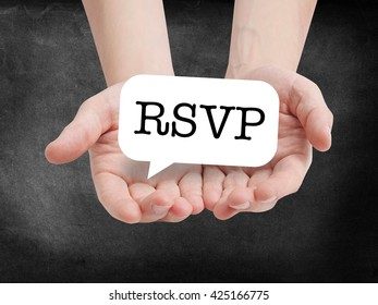 RSVP written on a speechbubble