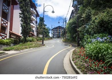 Rua Torta (Crooked Street) - Gramado, Rio Grande do Sul, Brazil
