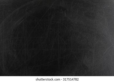 rubbed out chalk on black chalkboard, full frame