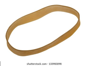 Rubber band isolated on white background.