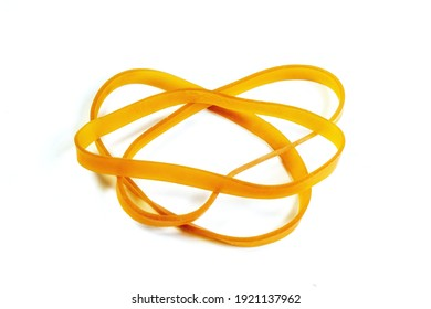 Rubber band rubber band on white background