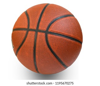 rubber basketball isolate on white background