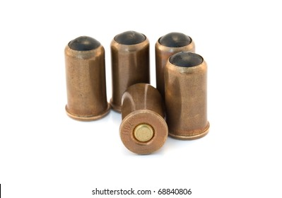 rubber bullets isolated on a white background