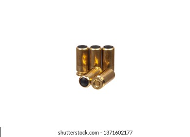 rubber bullets for a traumatic pistol isolated on white background