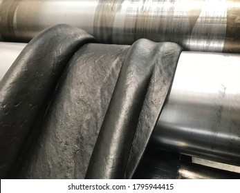 Rubber compound is prepaing in rubber factory, rubber mixing