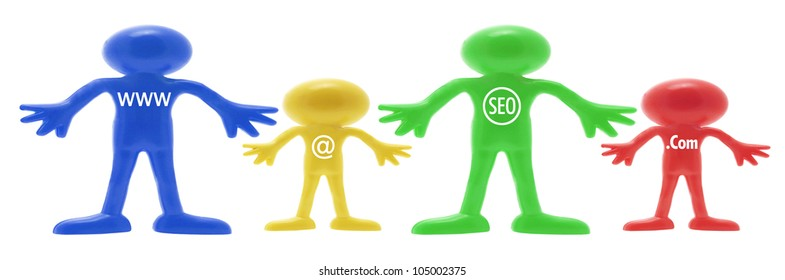 Rubber Figures with Internet Concepts