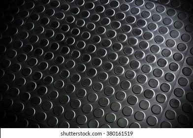 The rubber floor. dark tone background.