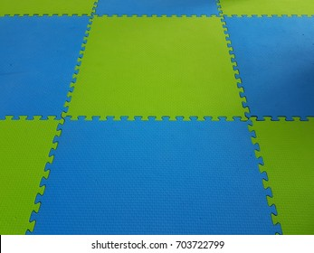 Rubber floor used for playgrounds.