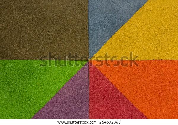 Rubber Flooring Play Park Flooring Rainbow Stock Photo Edit Now