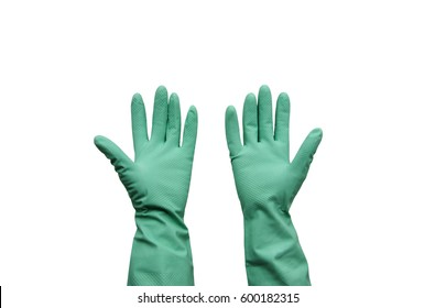 Rubber glove isolated on white background