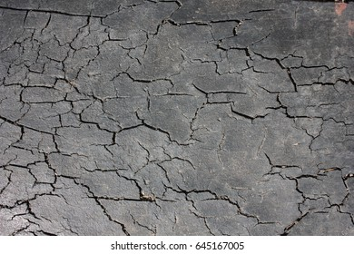 Rubber old cracked surface
