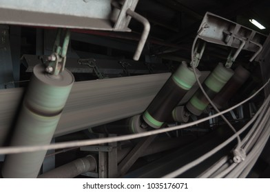 Rubber roller conveyor belt to transport the coal from coal mine to the power plant.