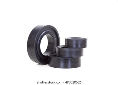 Rubber Seal chemical resistant for Industrial on the white background.