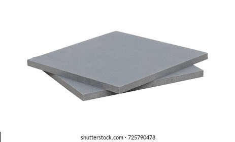 Rubber sheet isolated on white background. Piece of square plastic for industrial. Clipping paths object.