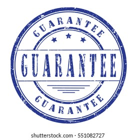 """rubber stamp  """"guarantee"""" on white"""