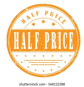 "Rubber stamp ""half price"", bitmap"