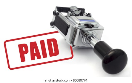 Rubber Stamp indicating payment