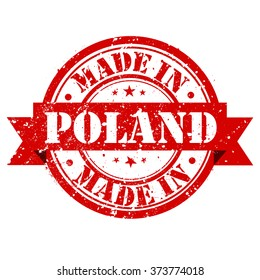 "Rubber stamp ""Made in Poland"""