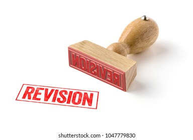 A rubber stamp on a white background - Revision