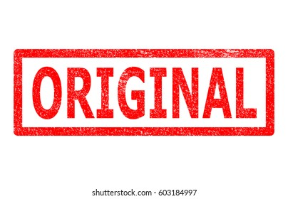 rubber stamp showing original. original stamp sign.