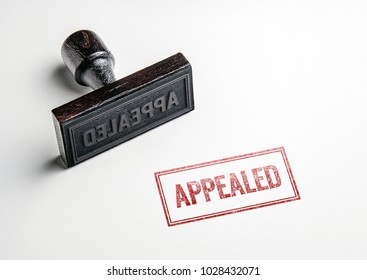 Rubber stamping that says 'Appealed'.