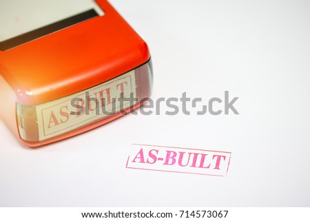 Rubber Stamps With The Word AS BUILT