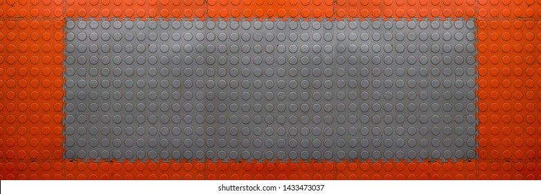 Rubber tile texture. Rubber pavement background. Abstract puzzle flooring pattern. Garage floor texture