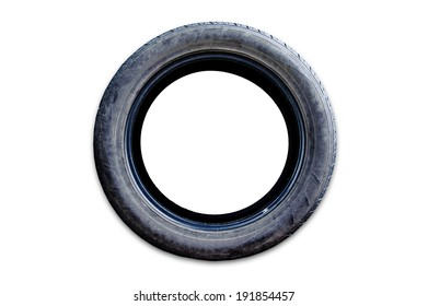 Rubber tire. Icon isolated on white background.