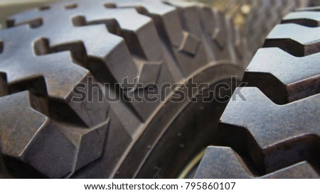 Rubber tyre detail