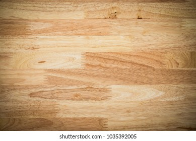 Rubber wood finger joint board texture background from above view