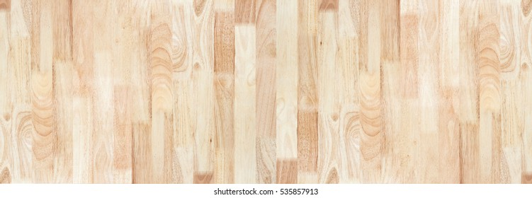 Rubber wood texture for background, timber pattern top view, panorama seamless editing.