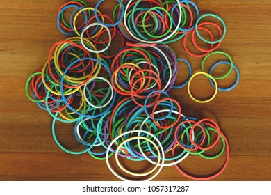 rubberband, colorful, elastic