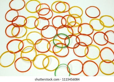 Rubberband on white background