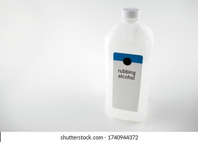 Rubbing alcohol bottle isolated with a white background