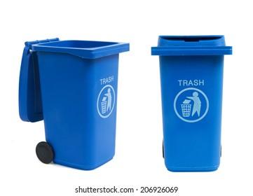 rubbish bins isolated on white