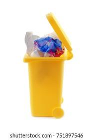 rubbish litter bin isolated on white
