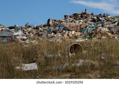 Rubbish tip waste