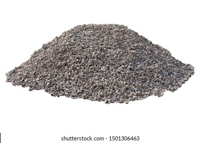 Rubble for construction on site on an white background, for designers