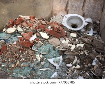 rubble in a container