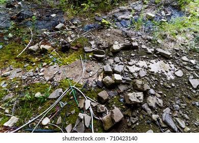 Rubble on the groun