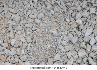 Rubble walls on the ground