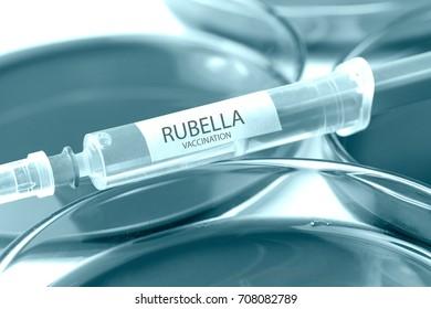 rubella vaccination blue colored theme